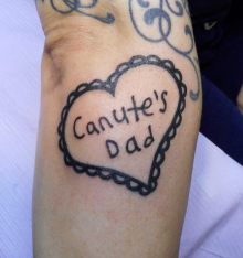 Canute's Dad, in Canute's handwriting