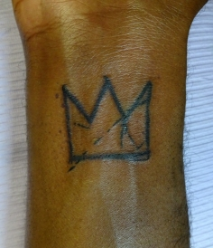 Basquiat Crown on wrist