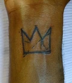 Basquiat Crown on wrist