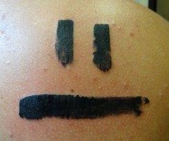 brush stroke face