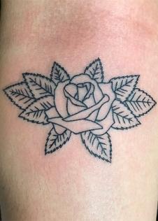 leafy rose