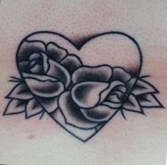 Heart on the sternum