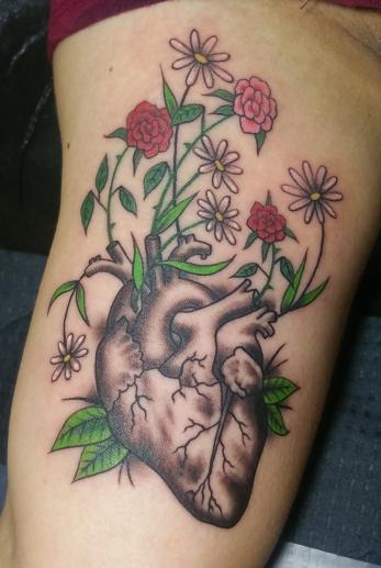 Custom heart vase